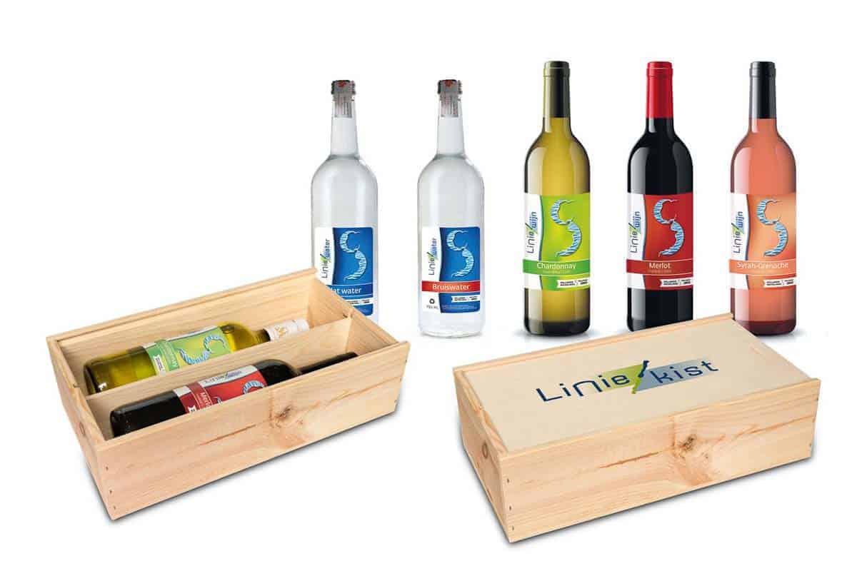 Liniewater en Liniewijn verpakkingen